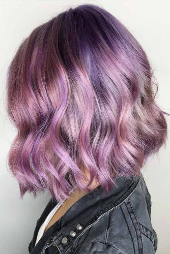 Сute Colorful Wavy Medium Bob Ideas Picture 6