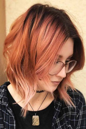 Сute Colorful Wavy Medium Bob Ideas Picture 5