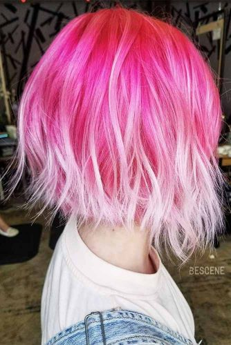 Сute Colorful Wavy Medium Bob Ideas Picture 2