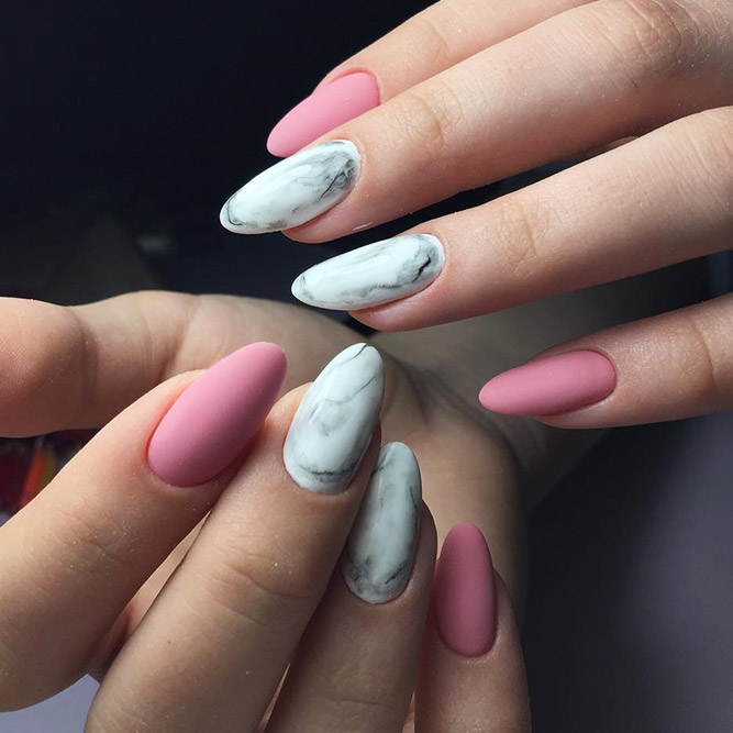 Matte Nails with Pink Shades Picture 2