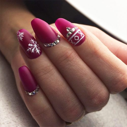 Matte Nails with Pink Shades Picture 6