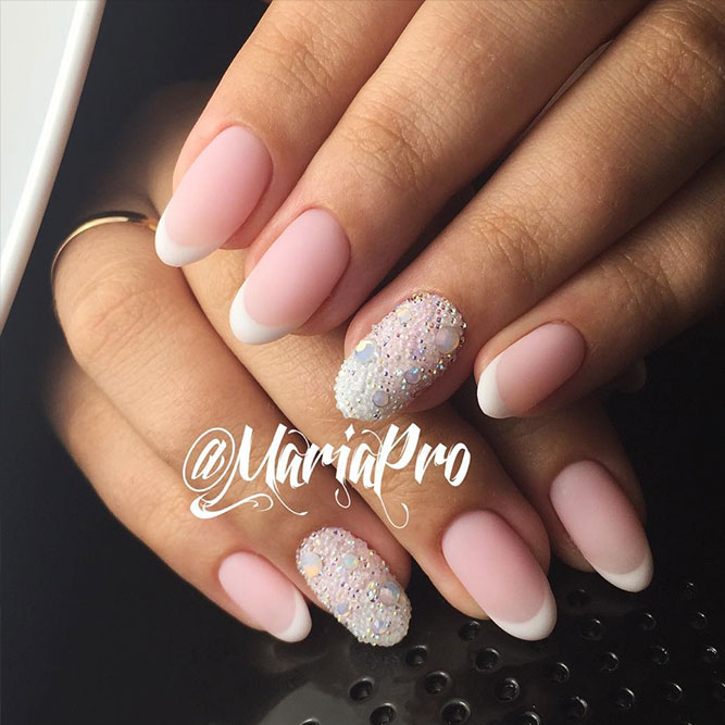 Matte Nails with Pink Shades Picture 1