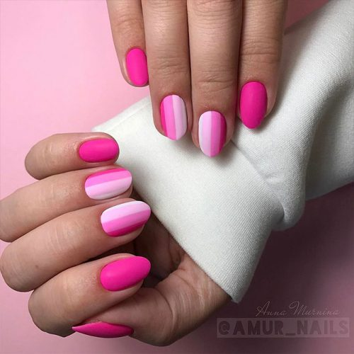 Matte Nails with Pink Shades Picture 3