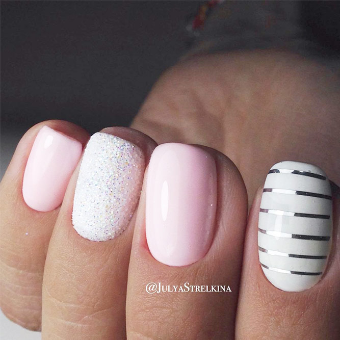 Newest Pink And White Nails Designs picture 2
