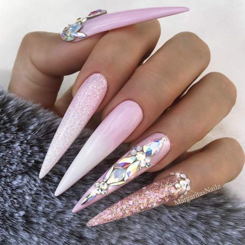 24 Pink And White Nails Trends For Spring And Summer 2019