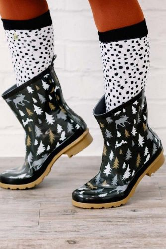 Rubber Rain Boots with Prints picture 6