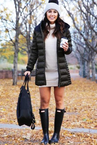Outfit Ideas with Rain Boots Women Will Really Adore picture 1