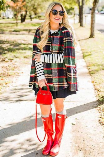 Outfit Ideas with Rain Boots Women Will Really Adore picture 3