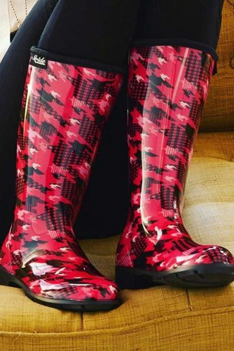 Rubber Rain Boots with Prints picture 1