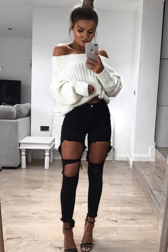 Newest Sexy Outfit Ideas with Leggings or Jeans picture 5