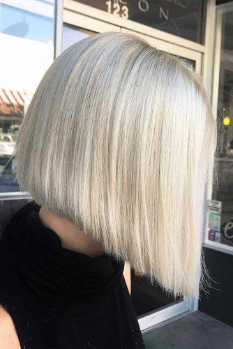 Short Bob Haircut for Pear Face Shapes