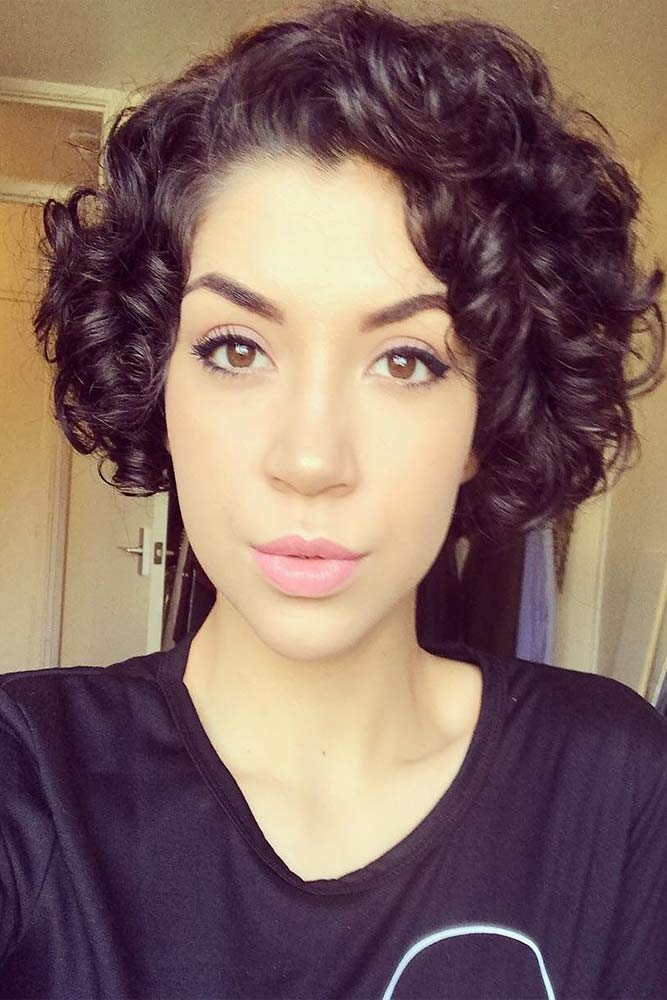 Hottest Short Curly Bob #hottesthairstyles #stylishhaircut