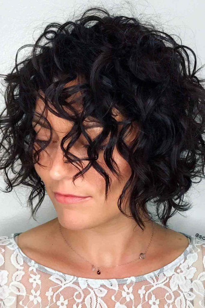 Contemporary Wavy Short Bob #curlyhair #wavyhair