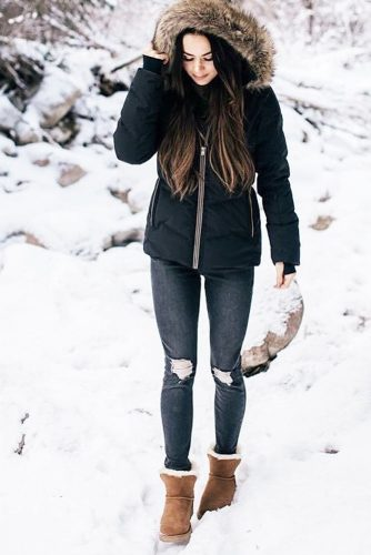 Comfy Womens Snow Boots Outfits picture 1