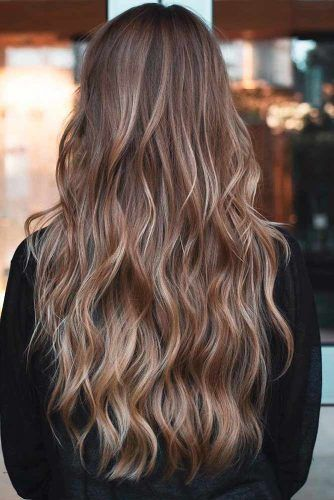Brown Hair With Highlights #hairhighlights #brownhair