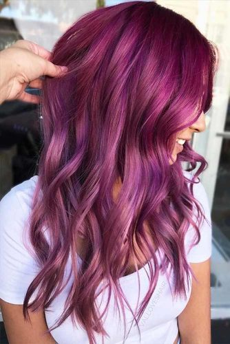 Burgundy Hair Colors for Winter Holidays Picture 2