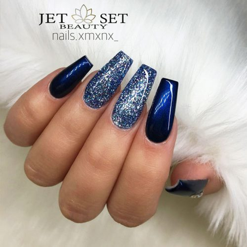 Beautiful Blue Winter Colors for Nails Picture 1