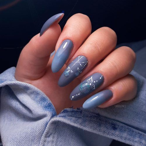 Cold Grey Winter Nail Color #greynails #christmasnails #longnails
