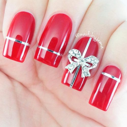 Red Holidays Nails #winternails #rednails