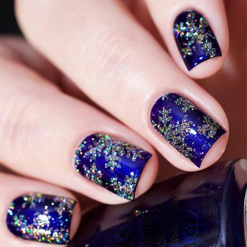 Beautiful Blue Winter Colors for Nails Picture 2