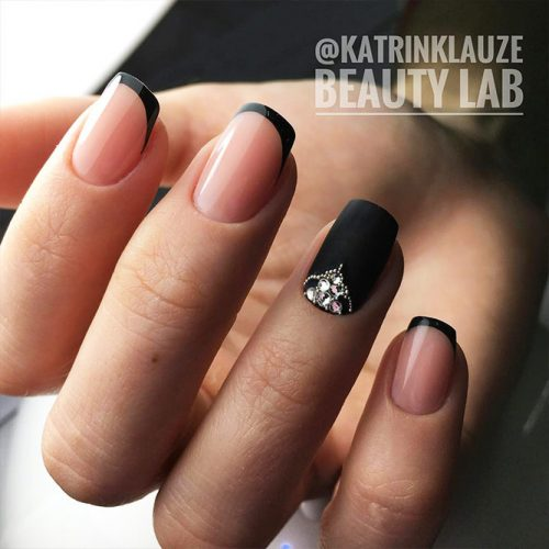Black French Manicure for Unusual Look Picture 2