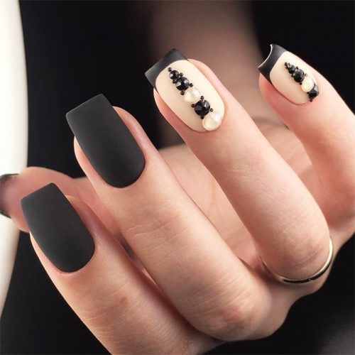 Black French Manicure for Unusual Look Picture 3