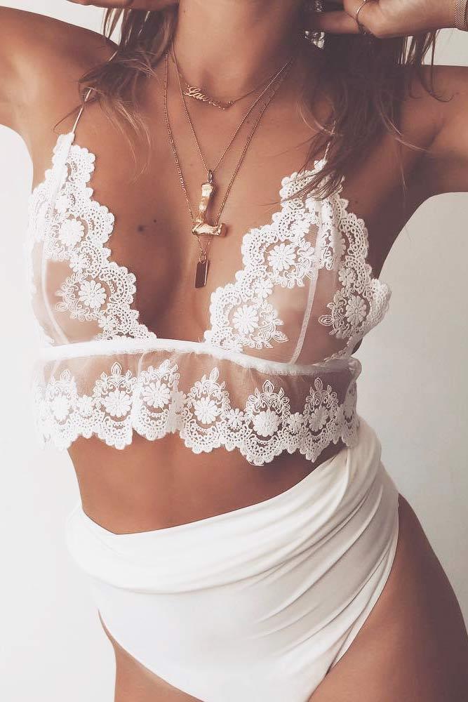 White Floral Bralette Design #floralbralette