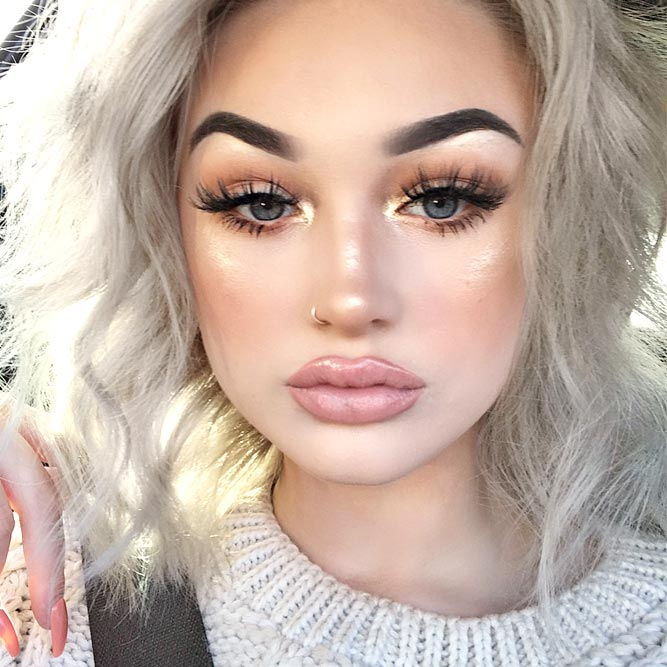 High and Soft Arched Eyebrows Shapes for Round Face picture 3