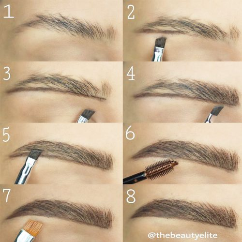 Eyebrows Shapes for Girls with Long and Diamonds Fase Shapes picture 2