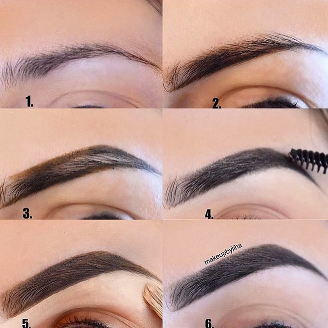 High and Soft Arched Eyebrows Shapes for Round Face picture 2