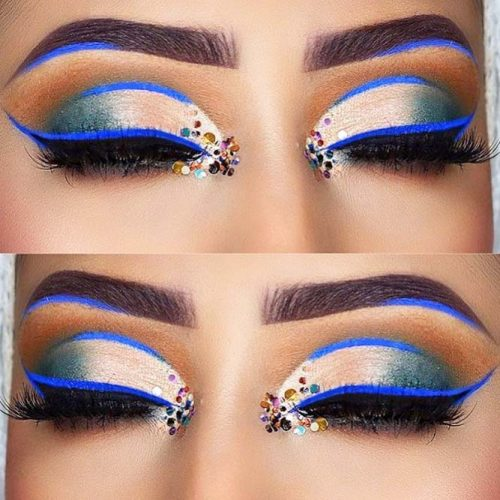 Colorful And Glitter Eyeliner Styles picture 2