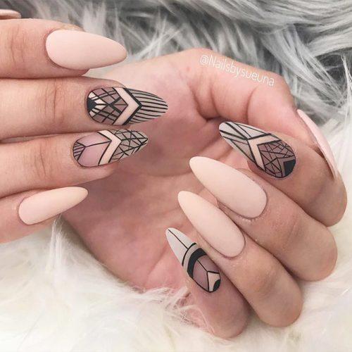 Beautiful Almond Shape Long Nails Picture 3