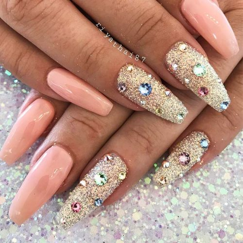 Long Nails of the Coffin Shape Picture 2