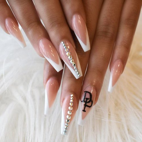 Long Nails of the Coffin Shape Picture 3