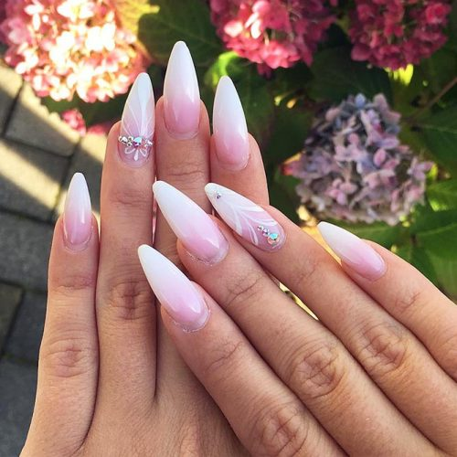 Beautiful Almond Shape Long Nails Picture 1