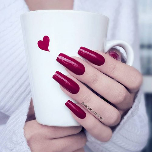 Square Shape Long Nails for a Classy Look Picture 1