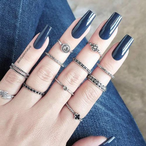 Square Shape Long Nails for a Classy Look Picture 3
