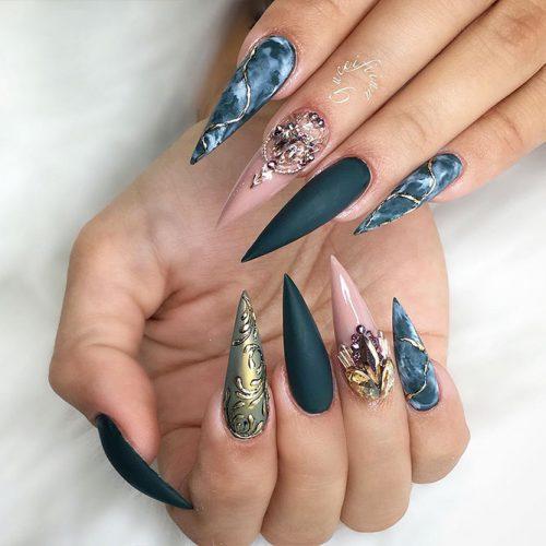 Stiletto Shape Long Nails Picture 6