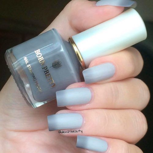 Matte Thermo Grey Nails #mattenails #thermonails #greynails