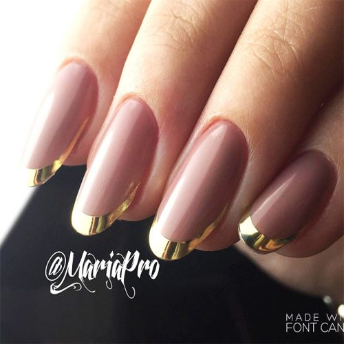 French Manicure with Unusual Nail Colors Picture 3