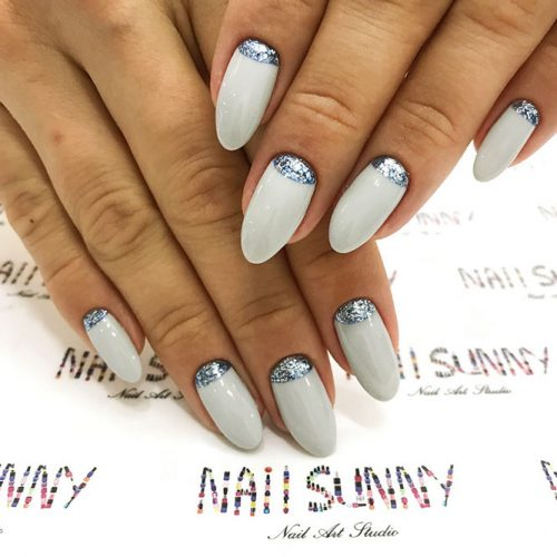 Nude Nail Colors with a Half Moon Design Picture 4