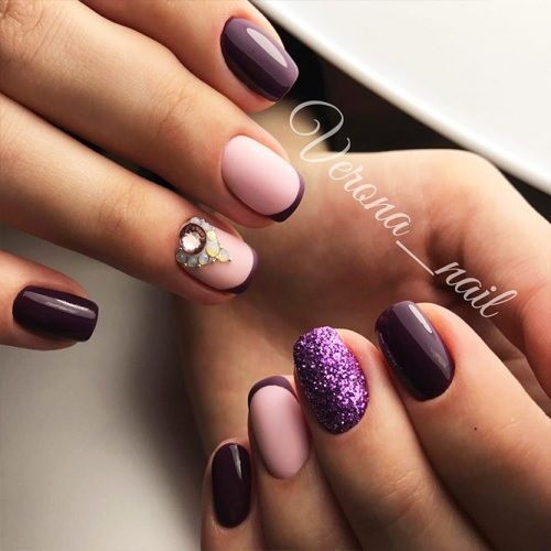 French Manicure with Unusual Nail Colors Picture 2