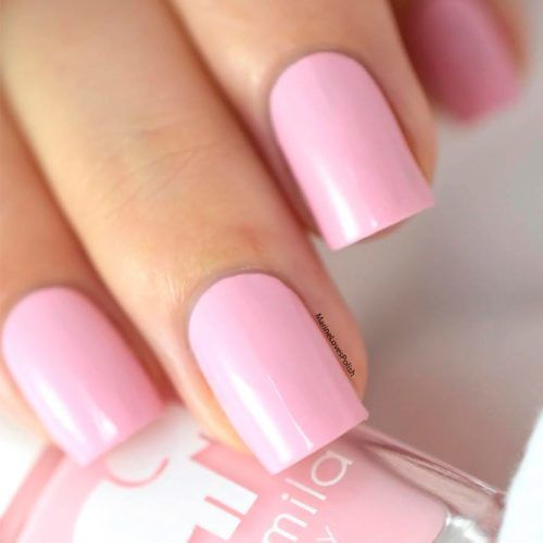 Pure Baby Pink Nails #purenailcolors #pinknails #shortnails