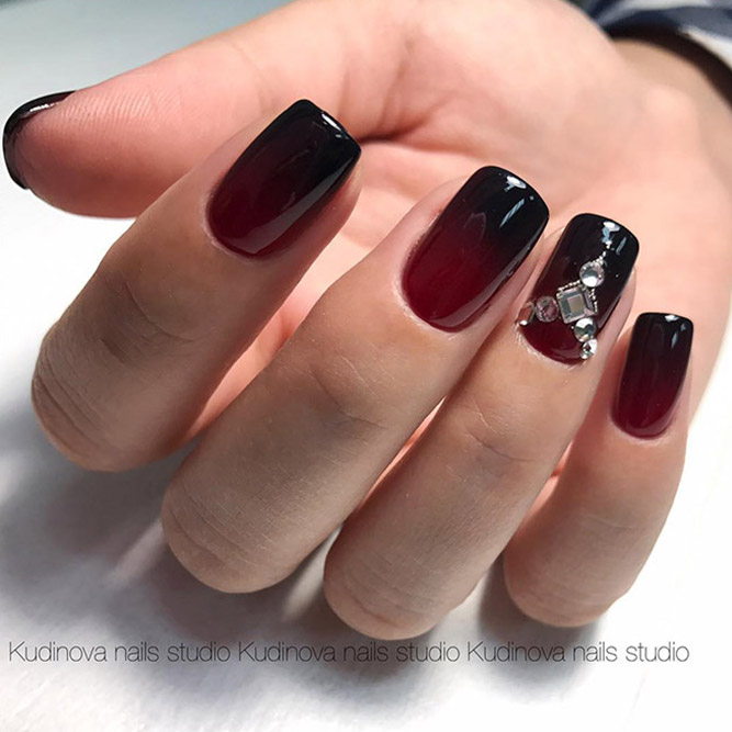 Red Nails with Ombre Picture 3