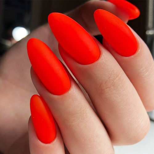 Simple Red Nail Design