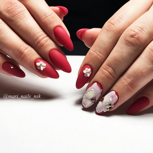 Matte Red Nails for a Classy Look Picture 2