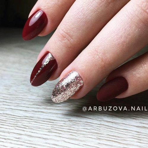 Bright Glitter Red Nails Designs Picture 1