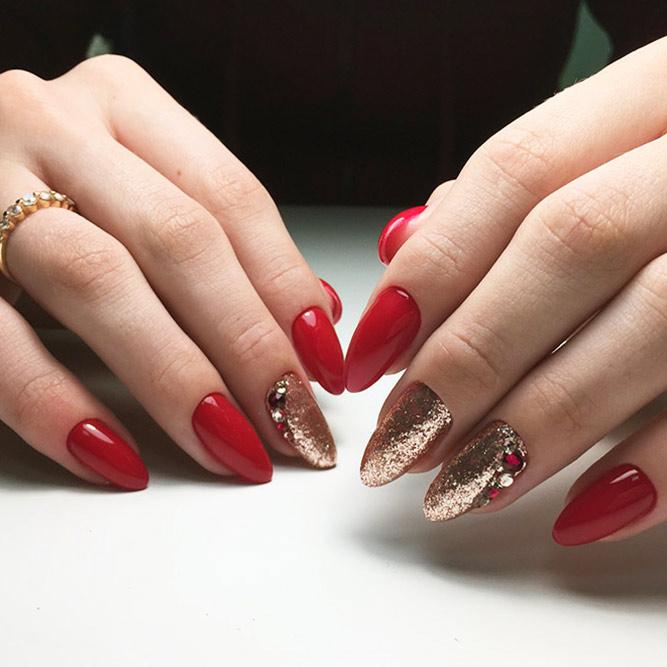Bright Glitter Red Nails Designs Picture 2
