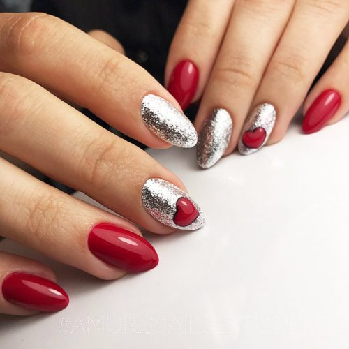 Bright Glitter Red Nails Designs Picture 3