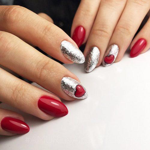 Bright Glitter Red Nails Designs Picture 3